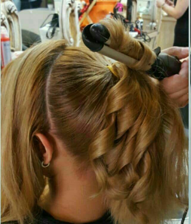 فر کردن مو در شینیون ، فر کردن مو با اتو مو