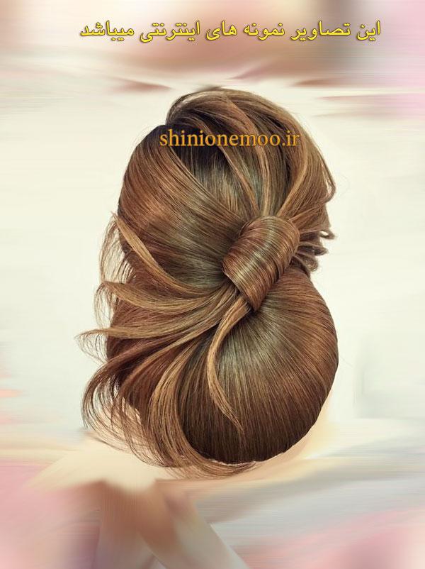 شینیون 2018 ، آموزش شینیون خطی موی باز ، آموزش شینیون خطی جلوی سر ، آموزش شینیون خطی موی کوتاه