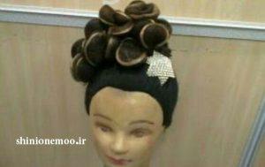 نمونه آموزش شینیون با موی اضافی