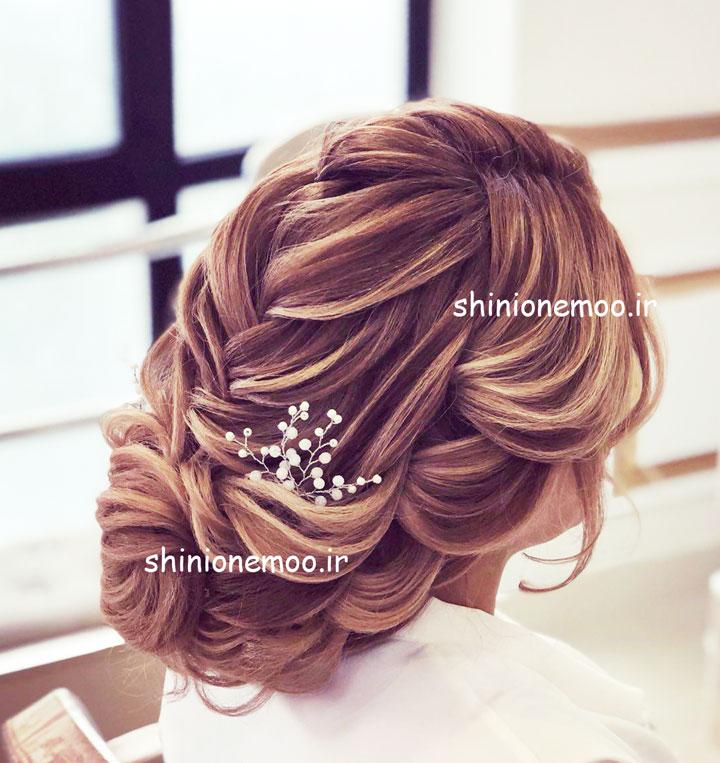 آموزش شینیون خانم بخشی - آموزش شینیون عروس